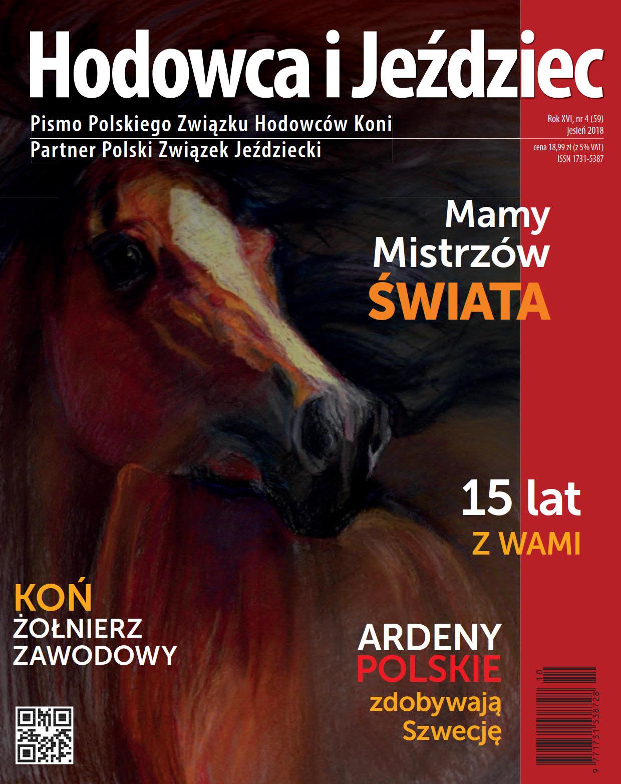 Hodowca iJeździec nr59 | Jesień 2018, Rok XVI Nr4