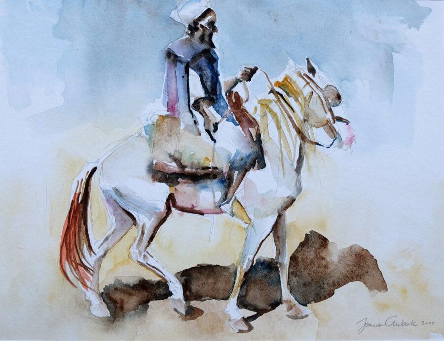 Beduin, akwarela 30x40 cm