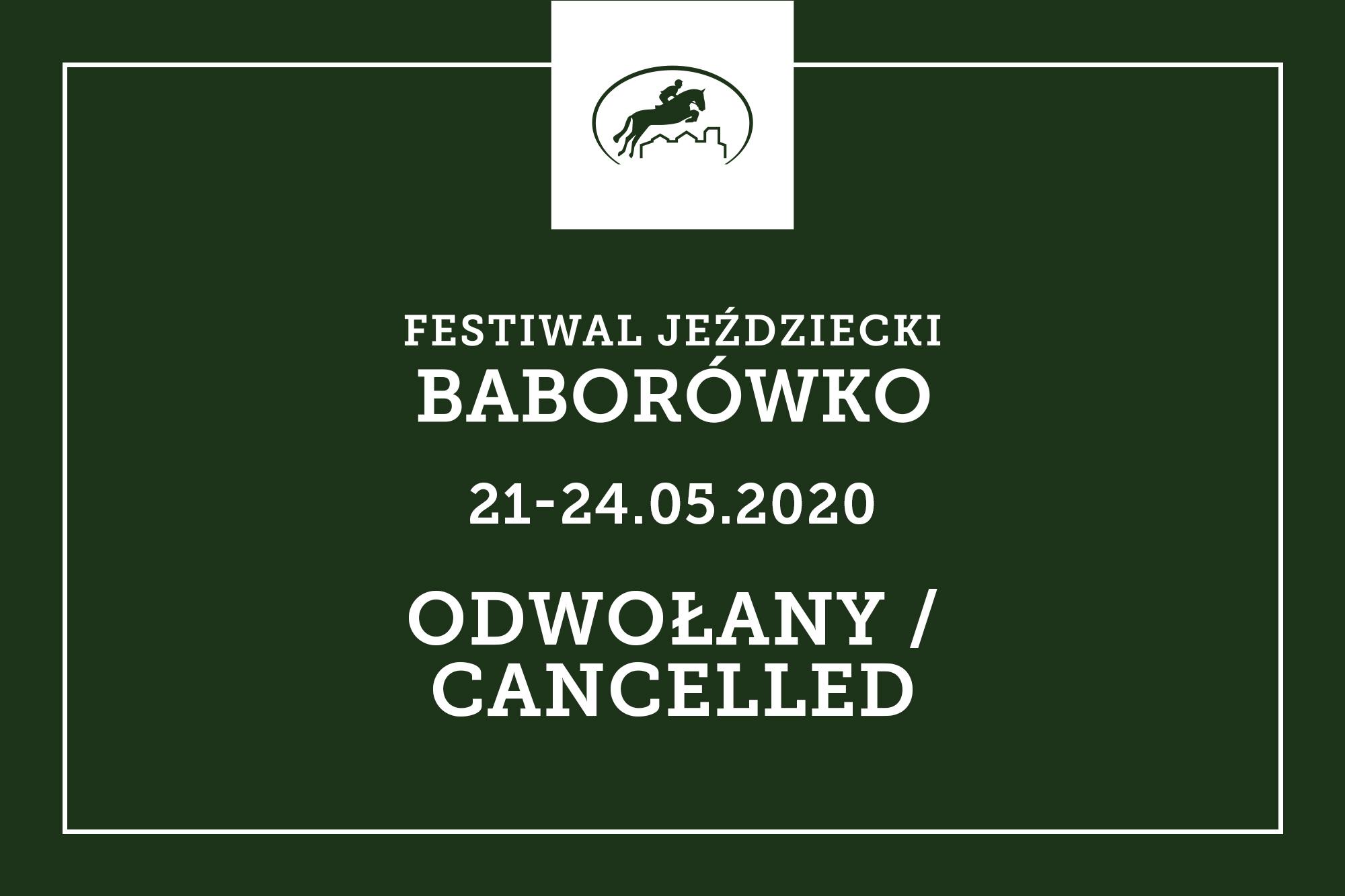 Festiwal Jeździecki Baborówko 2020 odwołany
