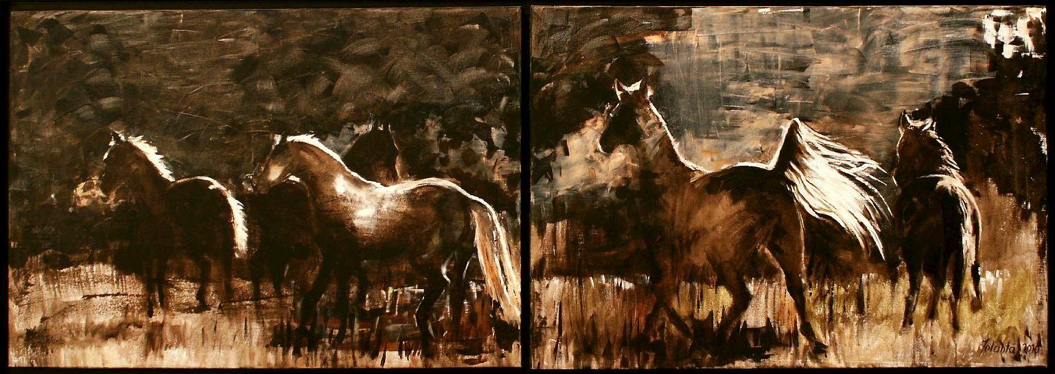 Jolanta Kalopsidiotis malarz - Hodowca i Jeździec