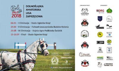 Plakat: Dolnośląska Amatorska Liga Zaprzęgowa