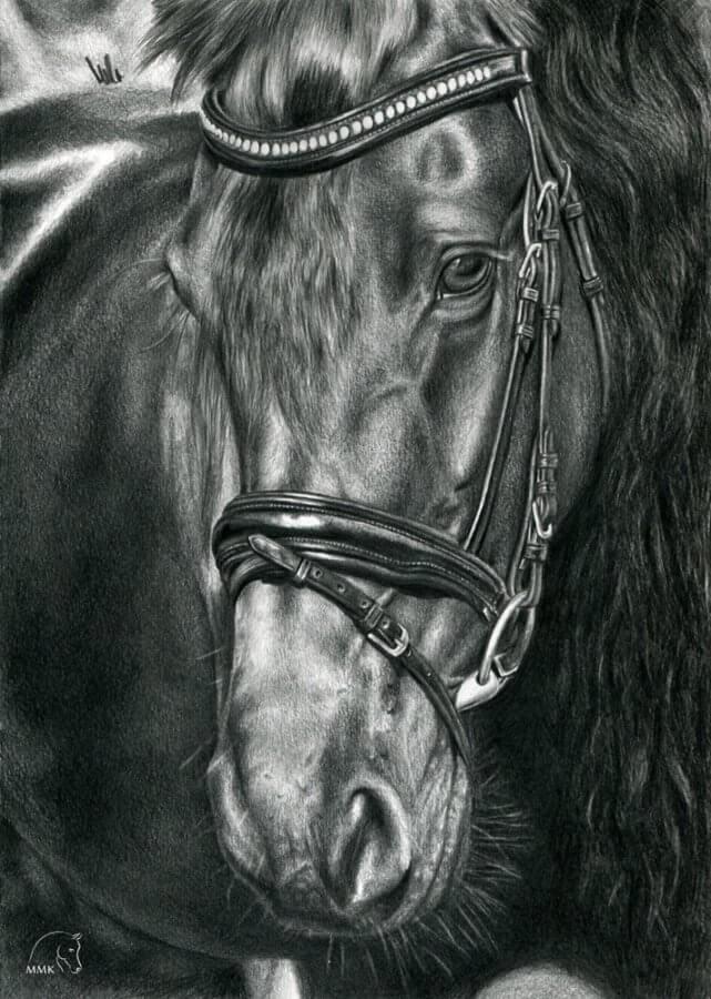Rysunek konia Walkiria