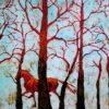Zimowy las, batik